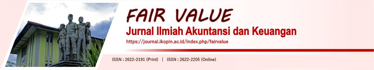 Fair Value Jurnal Ilmiah Akuntansi Dan Keuangan